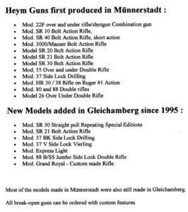 Nr_230-P list of models