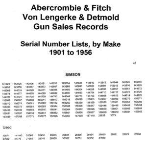 Nr_261-P Simson A & F sales